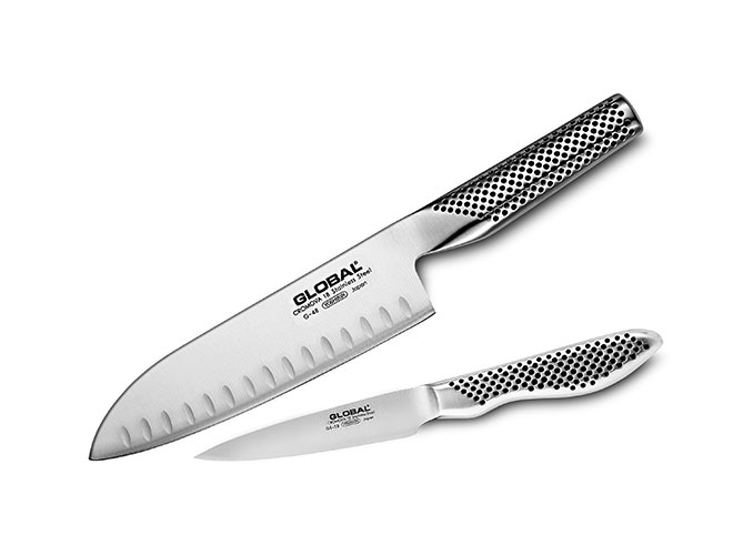 Global 2 Piece Santoku Starter Knife Set