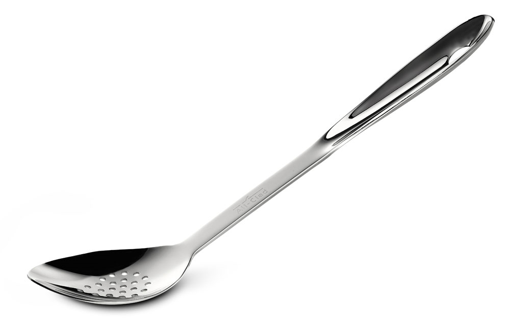 "All-Clad 13"" Stainless Steel Slotted Spoon"