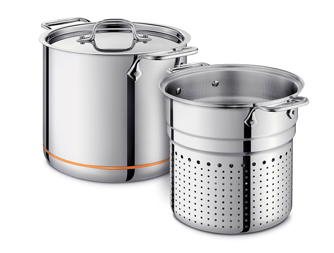 All-Clad Copper Core 7-quart Pasta Pentola Stock Pot with Insert