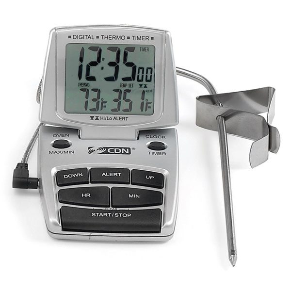CDN Digital Probe Thermometer, Timer & Clock