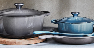 Le Creuset Introduces Two New Ocean Inspired Colors Marine Oyster The Rich Blue Tones Of Glimmers Like Deep Waters Sparkling