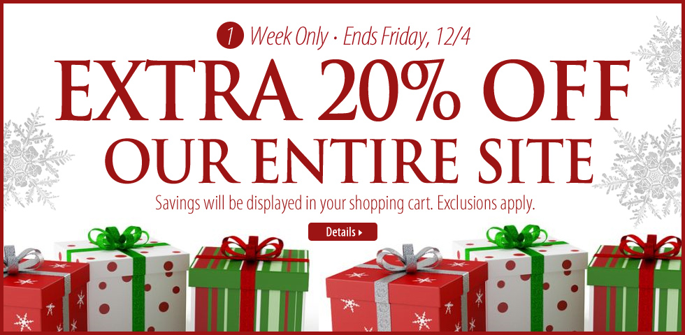 Extra 20% Off Site Wide
