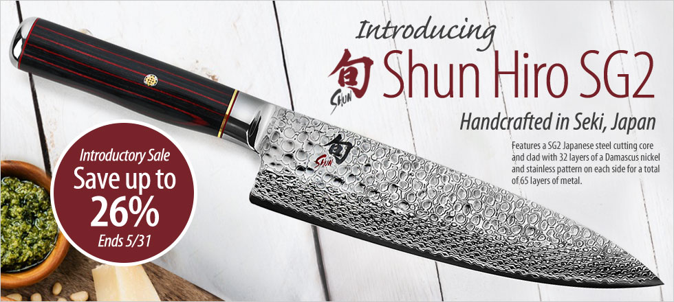 New Shun Hiro Knives