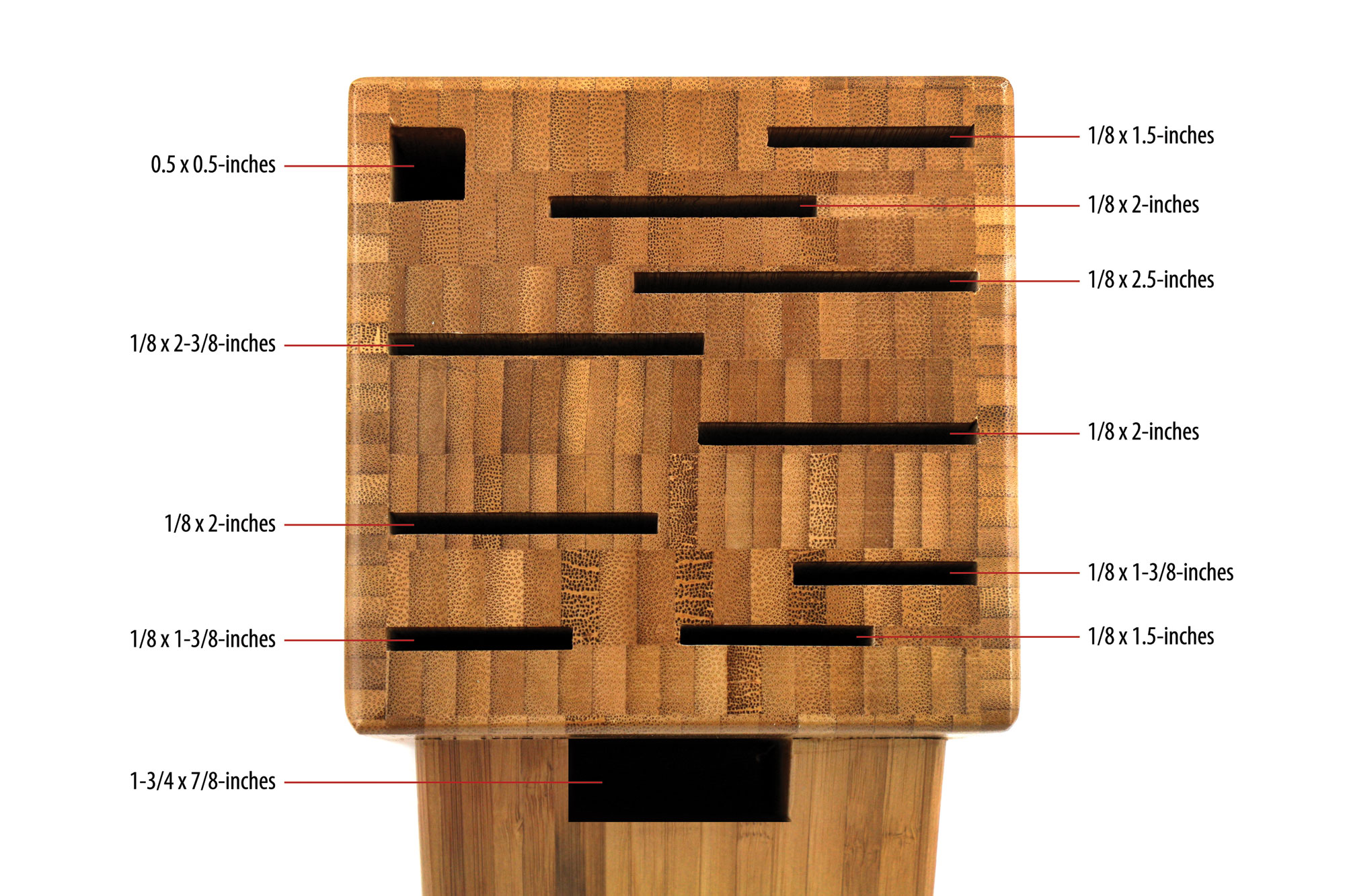 Shun Bamboo Knife Block 11 Slot Cutlery And More