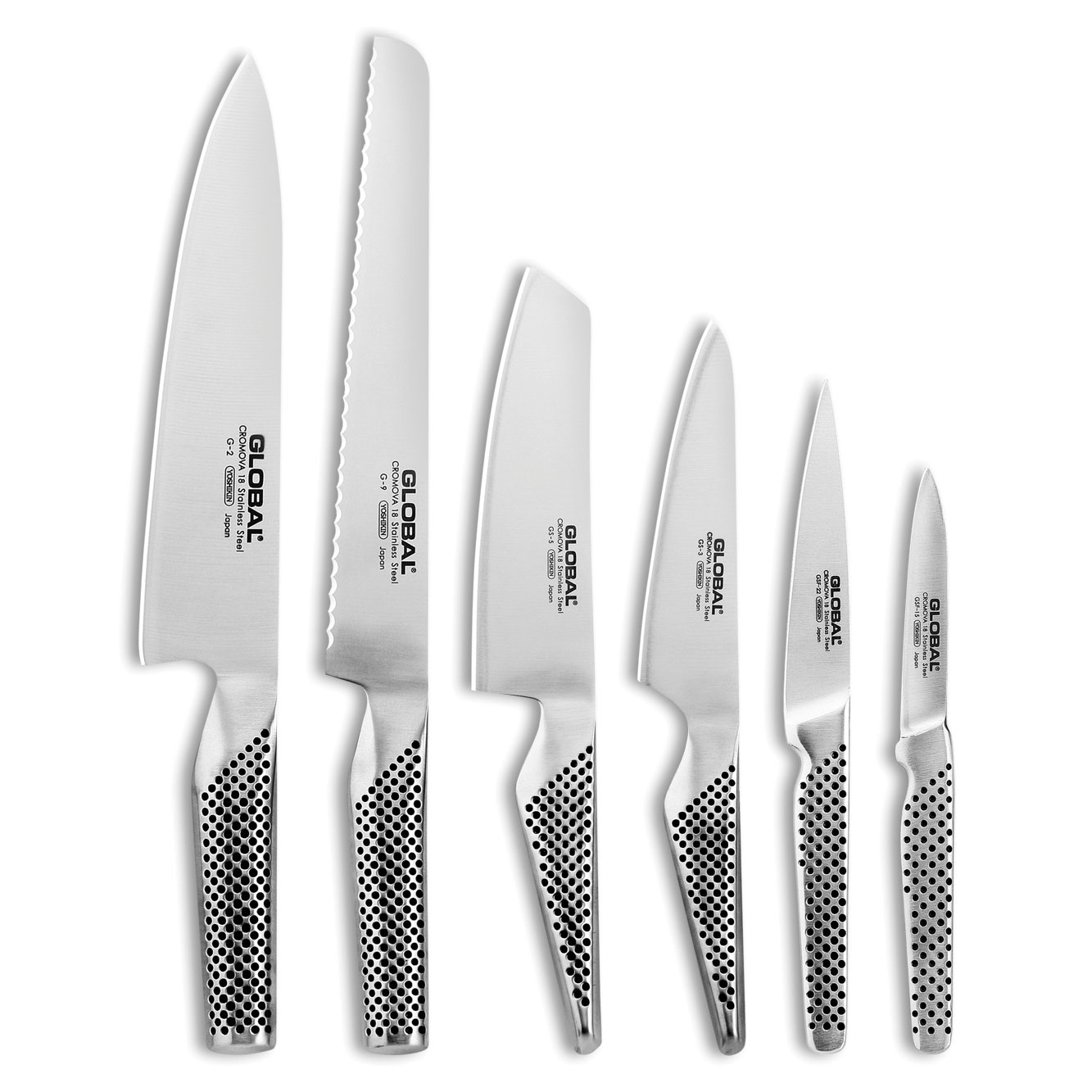 Global Knives Ikasu Block 7 Piece Knife Set Cutlery And More