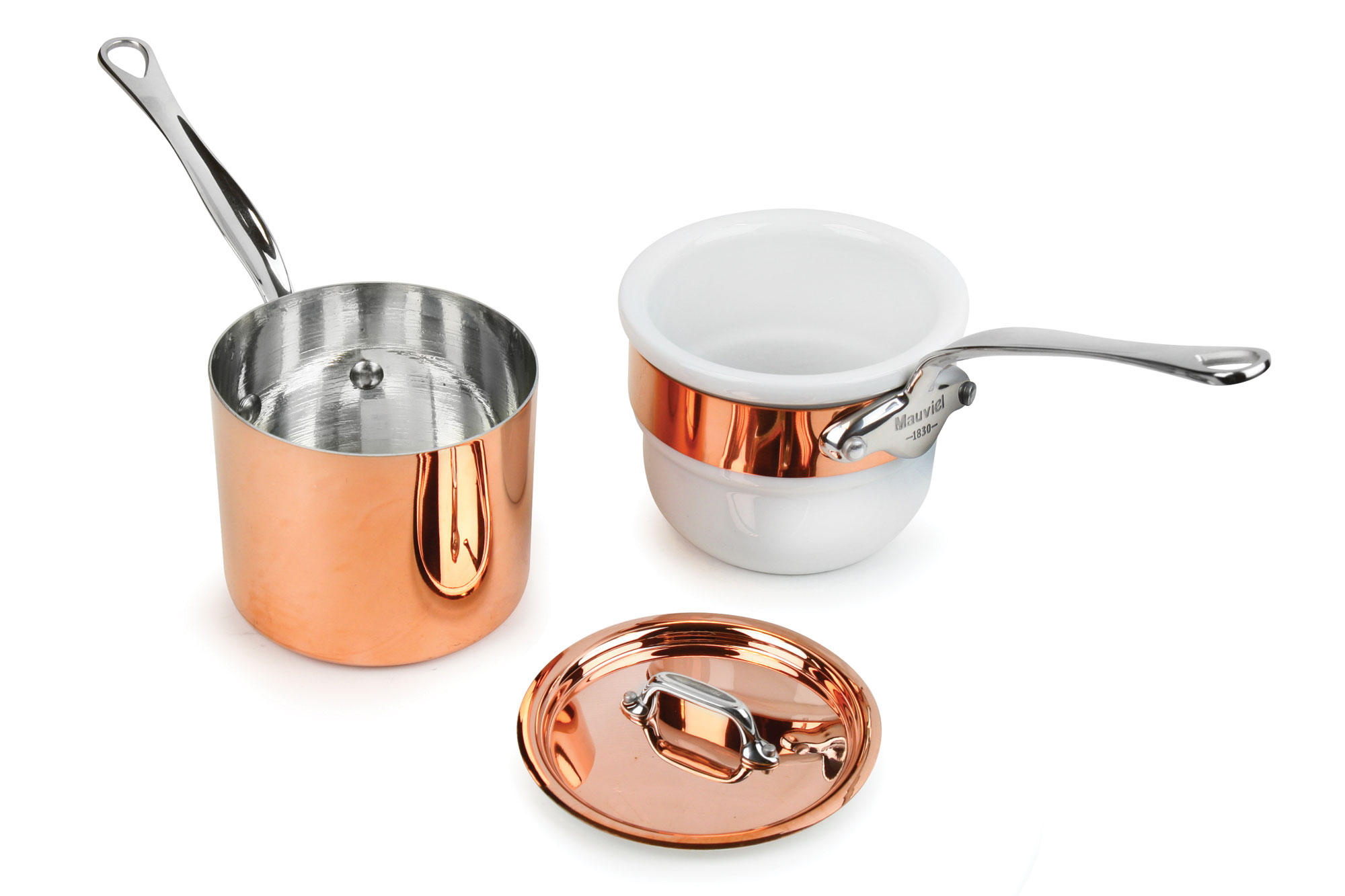 Mauviel M Heritage 150s Tin Lined Copper Bain Marie Double