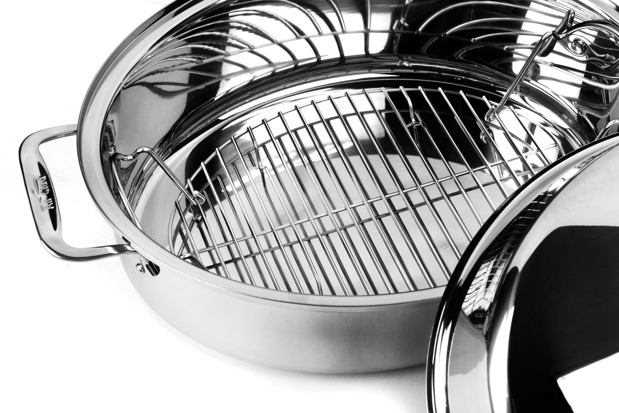 All Clad Oval Roaster With Cover Amp Rack Stainless Steel