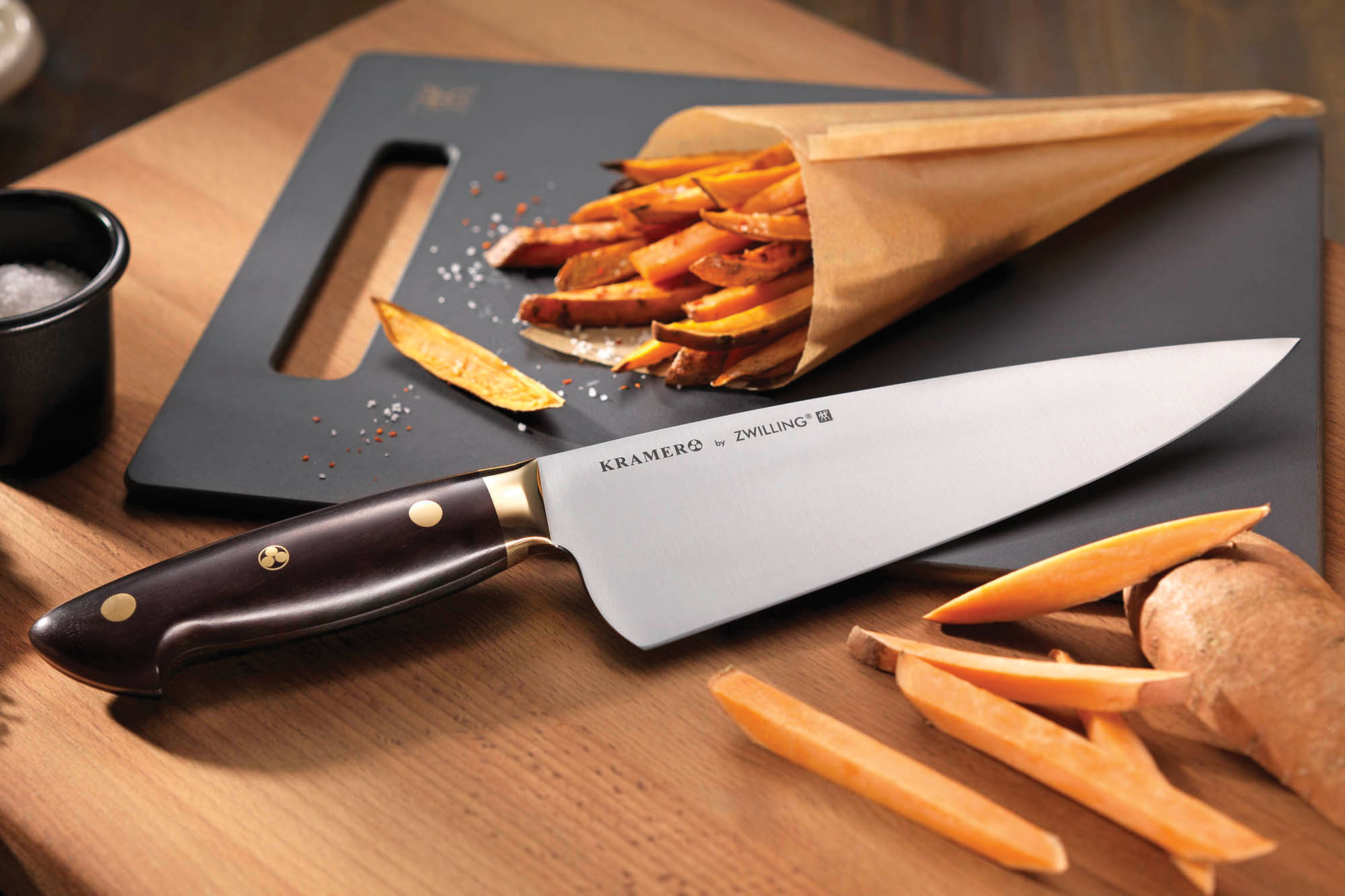 bob kramer carbon steel chef 39 s knife 8 inch by zwilling knives cutlery and more. Black Bedroom Furniture Sets. Home Design Ideas