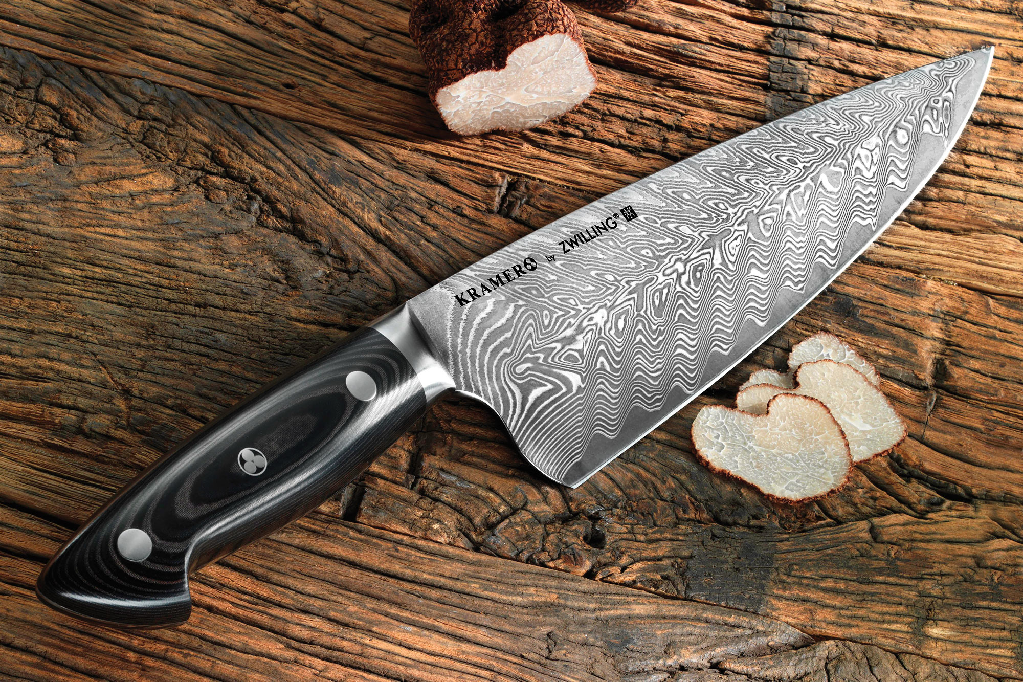 bob kramer chef 39 s knife damascus by zwilling j a henckels cutlery and more. Black Bedroom Furniture Sets. Home Design Ideas