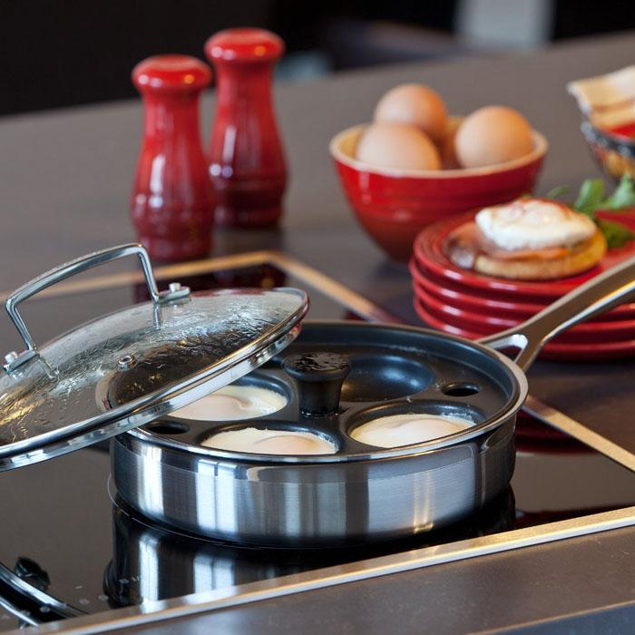 Le Creuset Stainless Steel Egg Poaching Pan 1 5 Quart