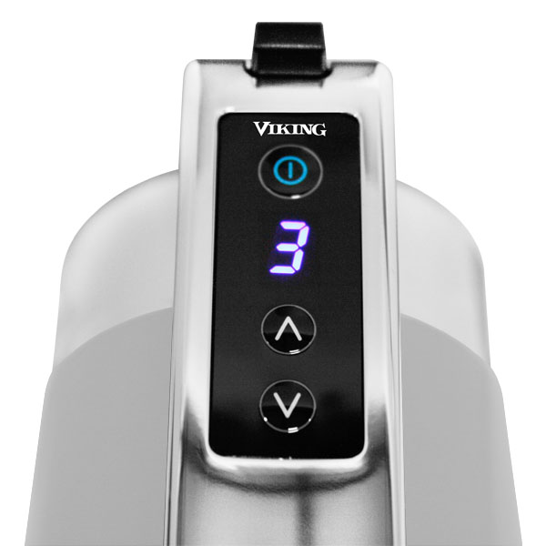 Viking Digital Hand Mixer 9 Speed Stainless Grey