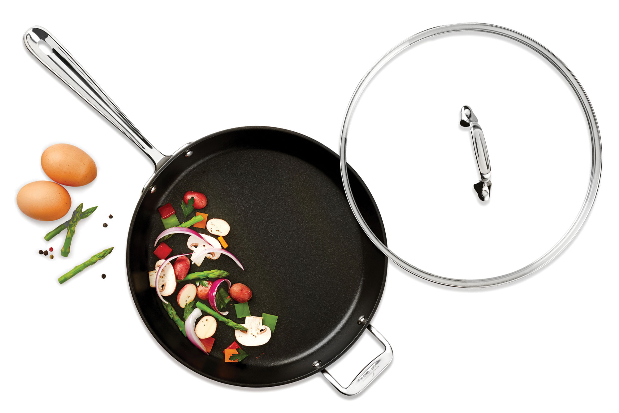 All Clad Ha1 Nonstick Skillet With Glass Lid 12 Inch