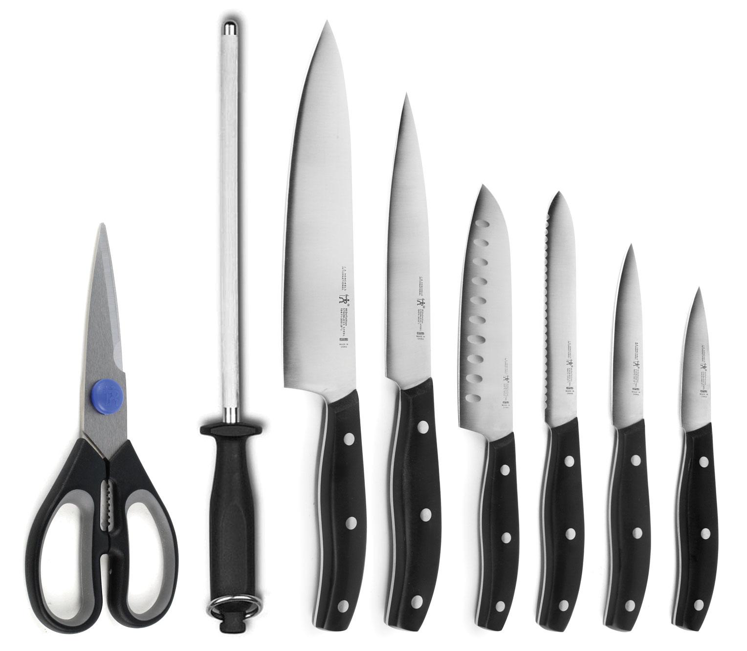 henckels international definition 9 piece knife block set. Black Bedroom Furniture Sets. Home Design Ideas