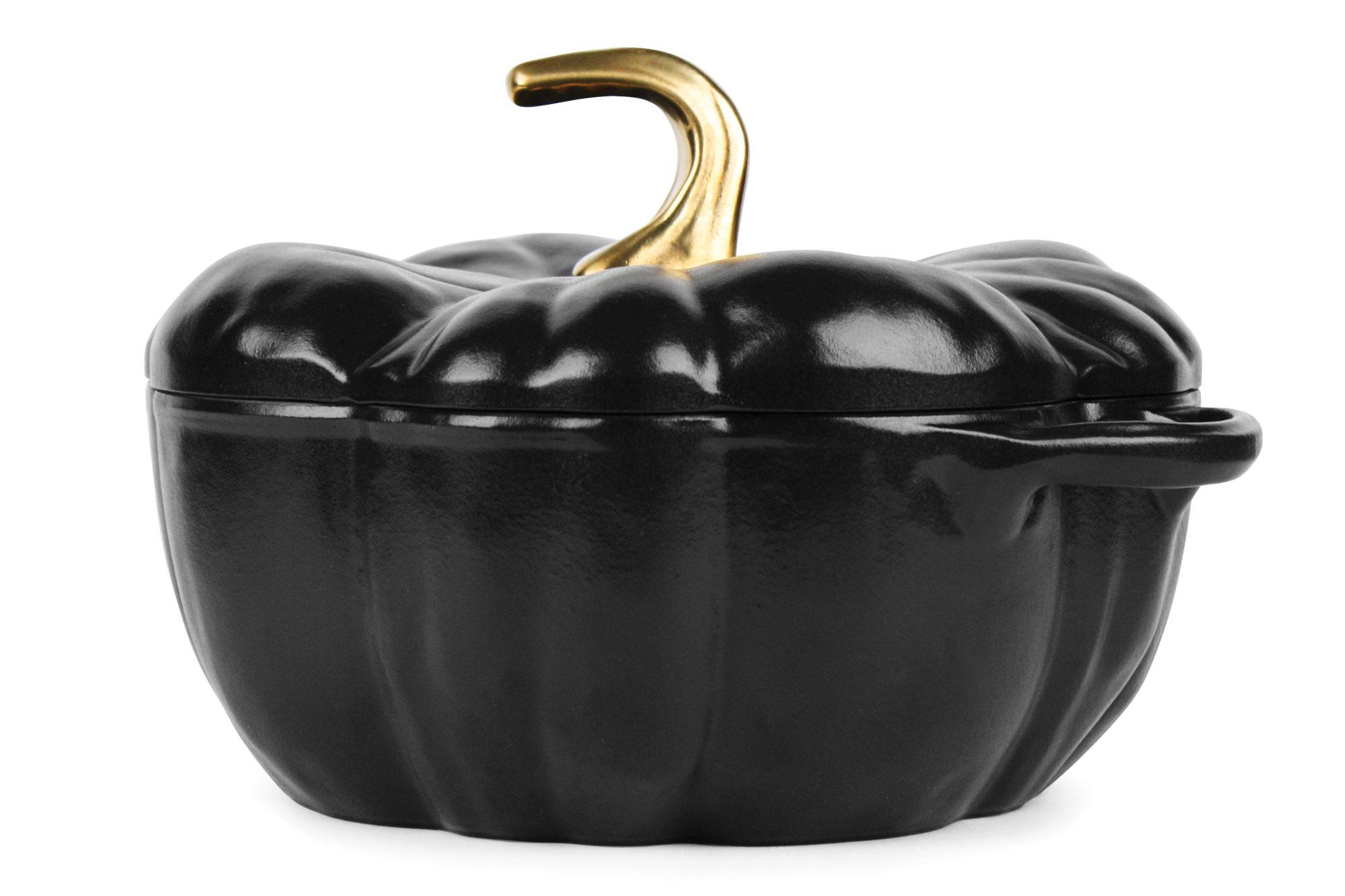 Staub Cast Iron Pumpkin Cocotte 3 5 Quart Matte Black