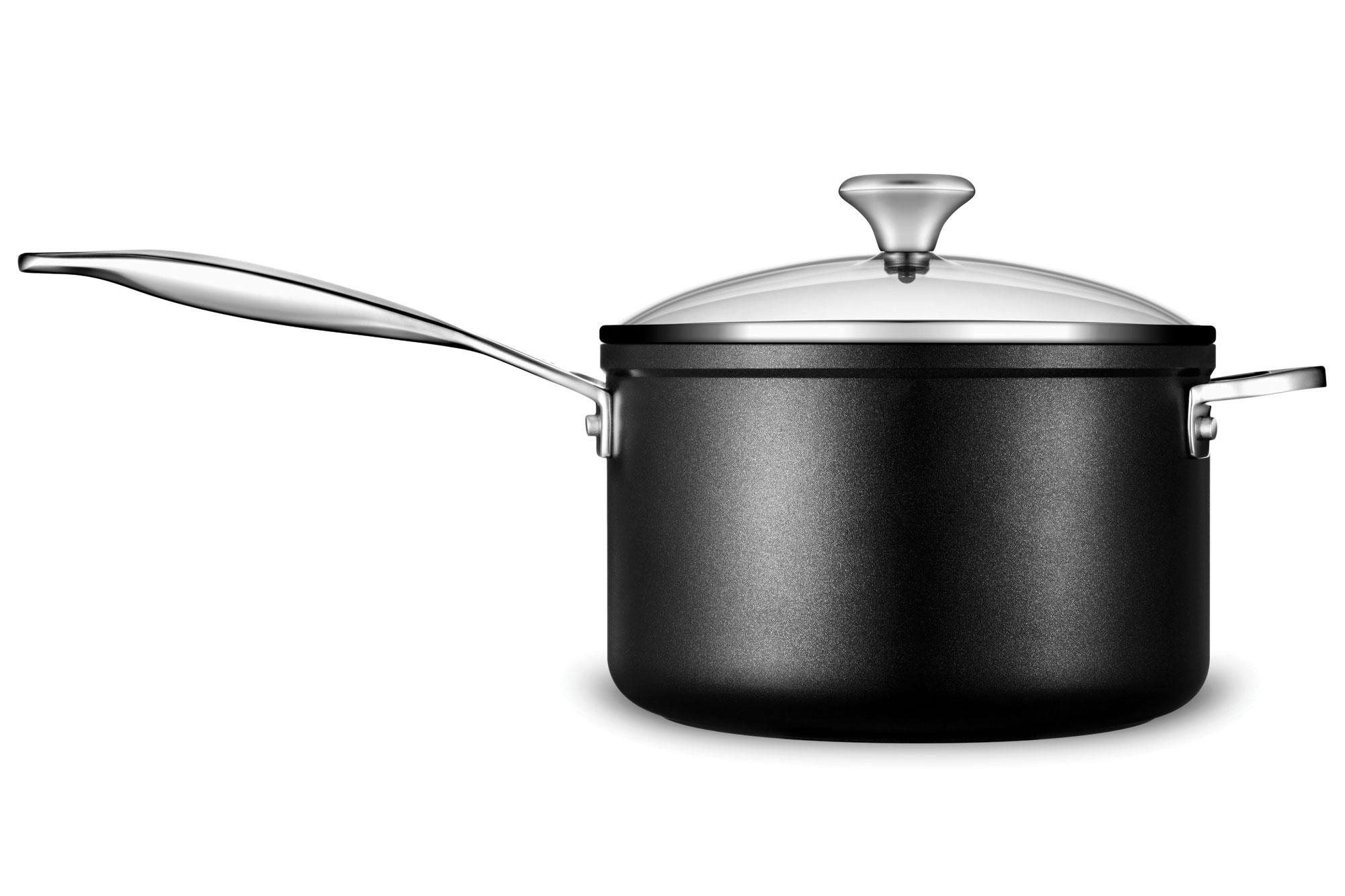 Le creuset toughened nonstick stock pot 6 3 quart cutlery and more - Le Creuset Toughened Nonstick Cookware Set 12 Piece