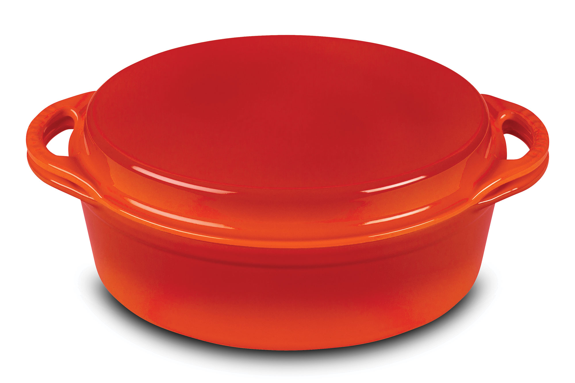 Le Creuset Cast Iron Oval Oven With Reversible Grill Pan