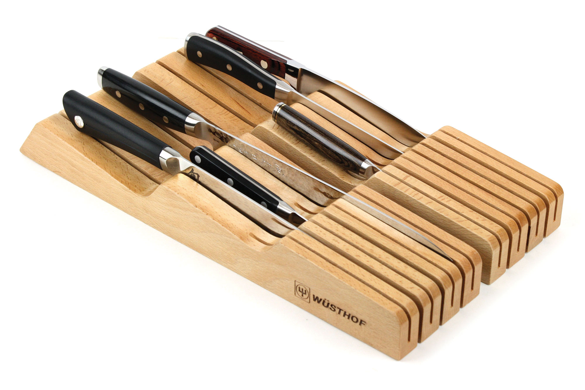 Wusthof In Drawer Knife Storage Tray 14 Slot Natural