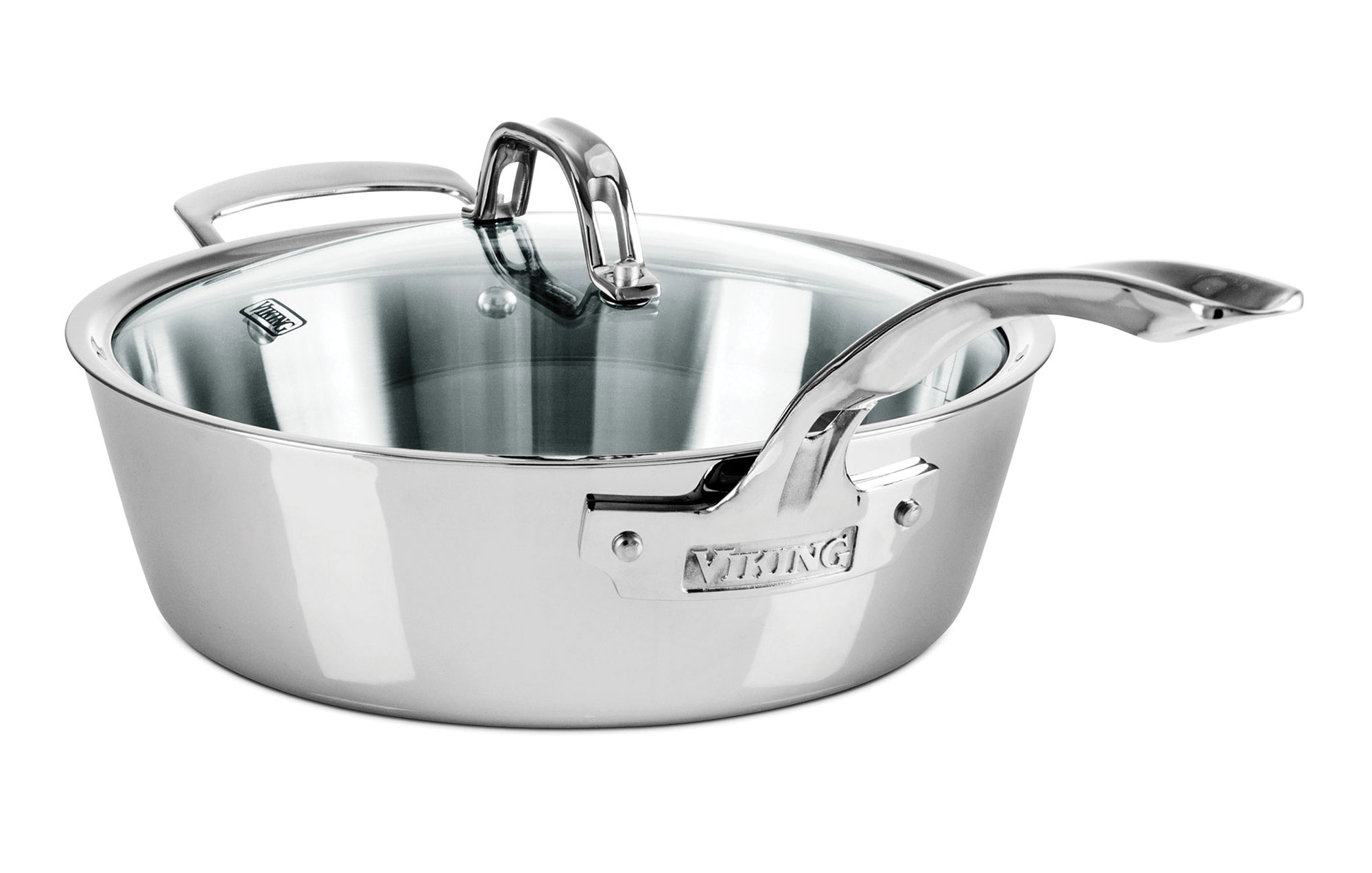 Viking Contemporary Tri Ply Stainless Steel Cookware Set