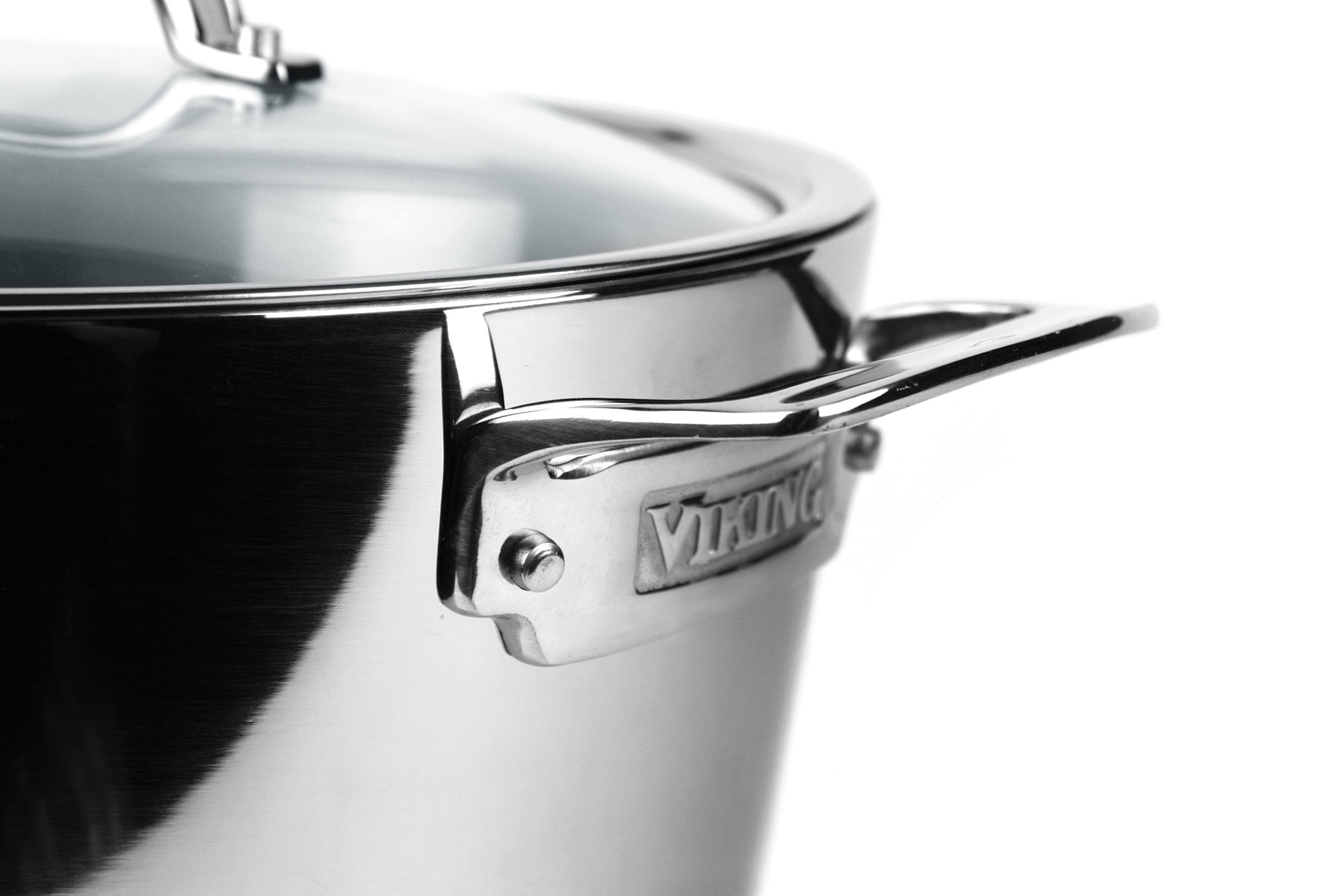 Viking Contemporary Tri Ply Stainless Steel Stock Pot 8