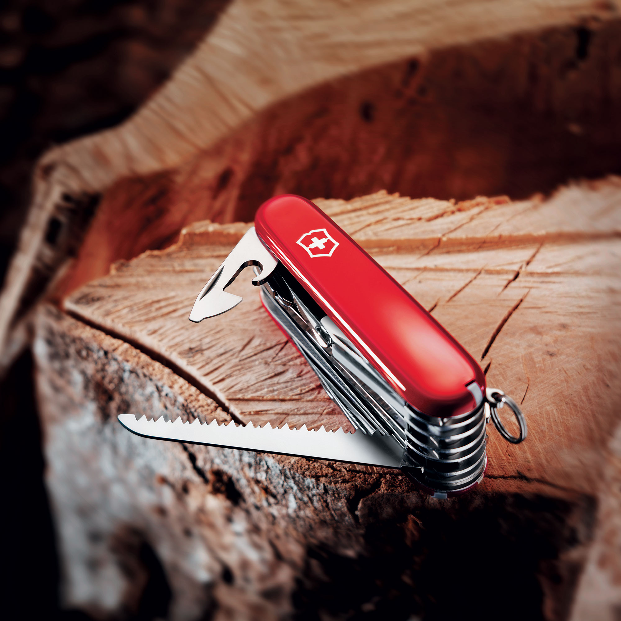 Victorinox Swiss Army Swisschamp Pocket Knife Red