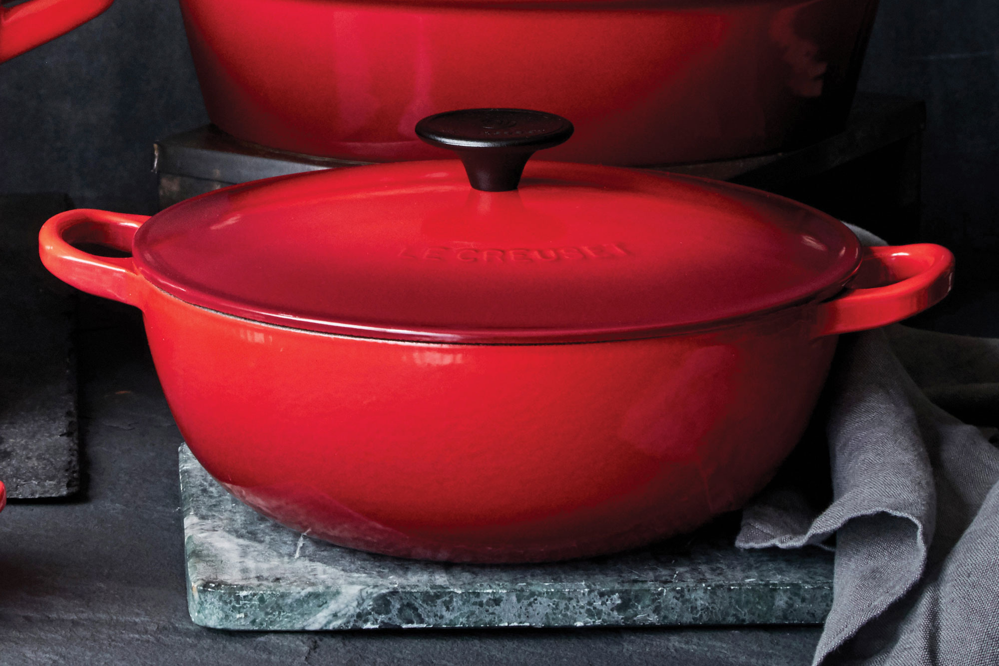 Le Creuset Cast Iron Chef S Oven 3 5 Qt Flame French