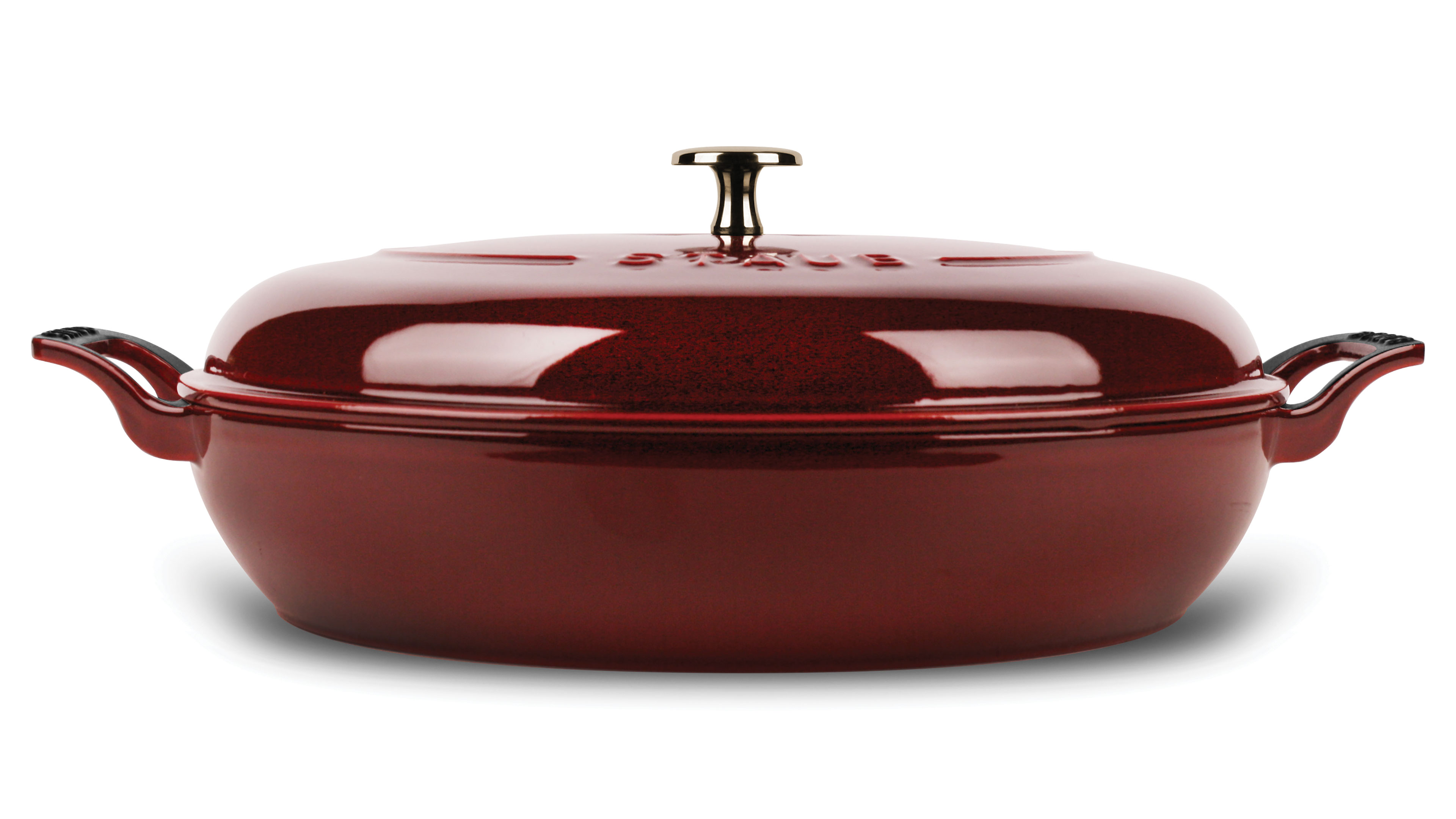 Staub Heritage Braiser 3 5 Quart Grenadine Cutlery And