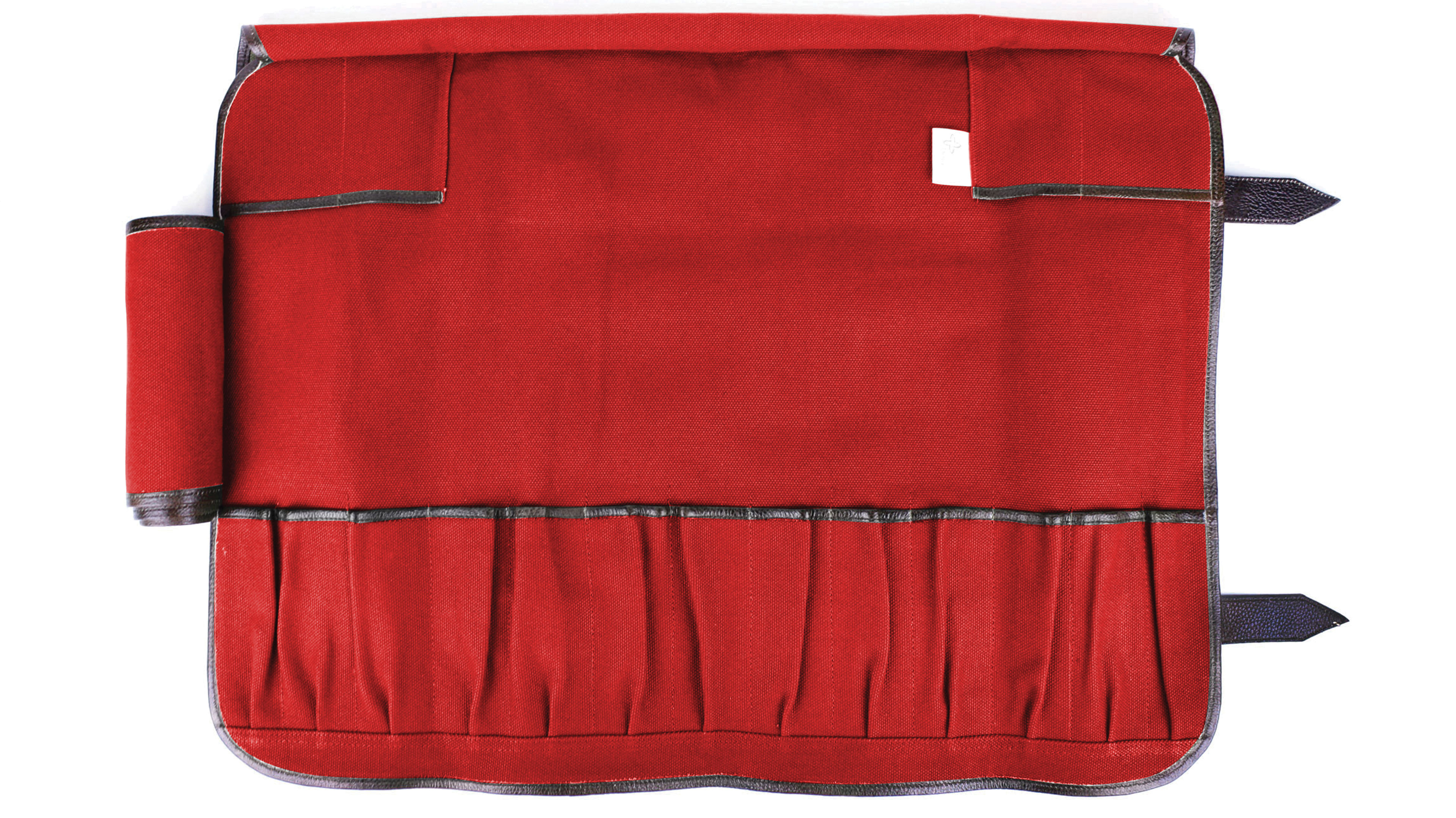 Boldric Canvas Knife Bag 17 Pocket Red Cutlery And More