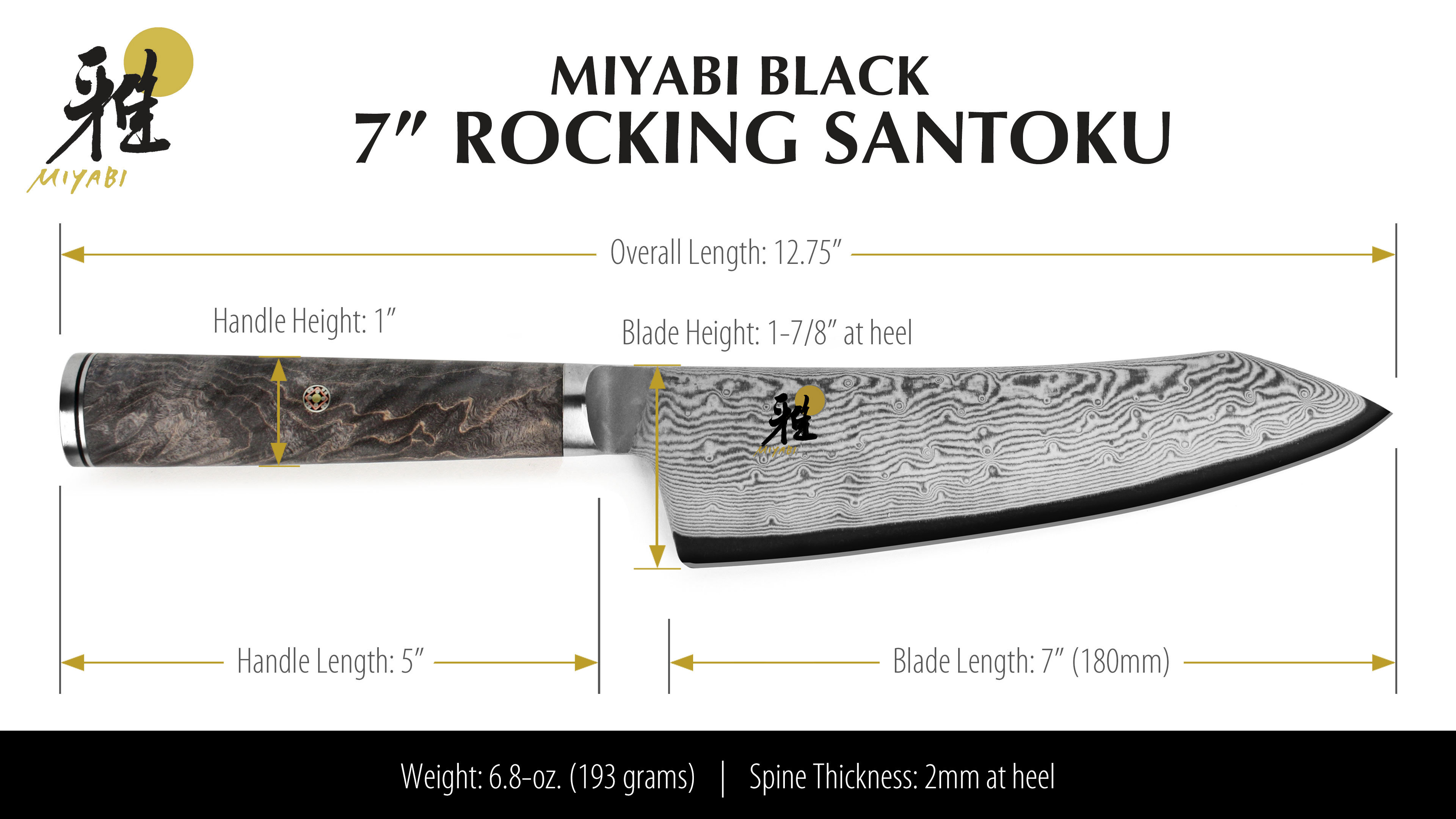 Miyabi Black Rocking Santoku Knife 7 Quot Cutlery And More