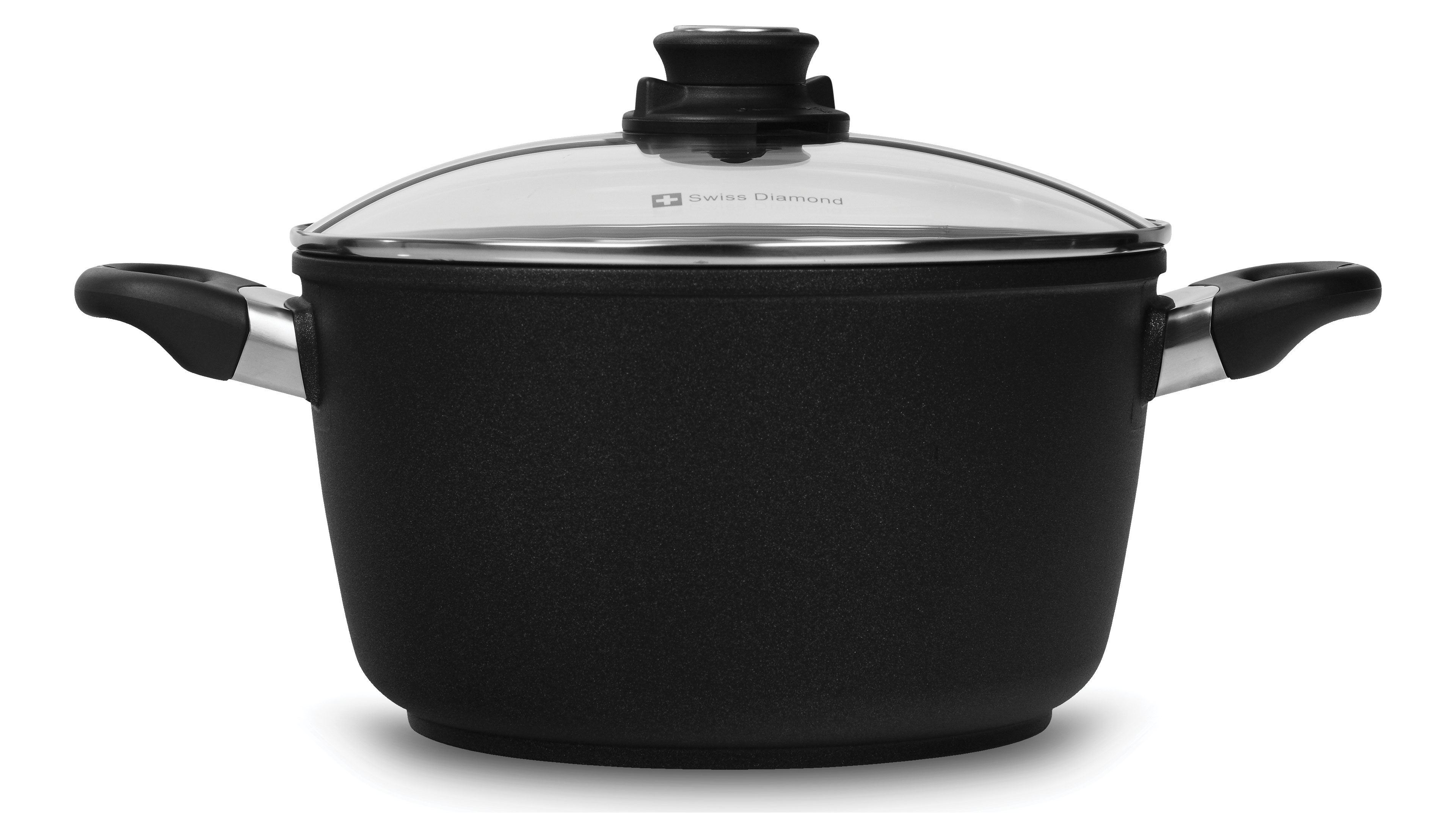 Swiss Diamond Xd Nonstick Soup Pot With Lid 5 5 Quart
