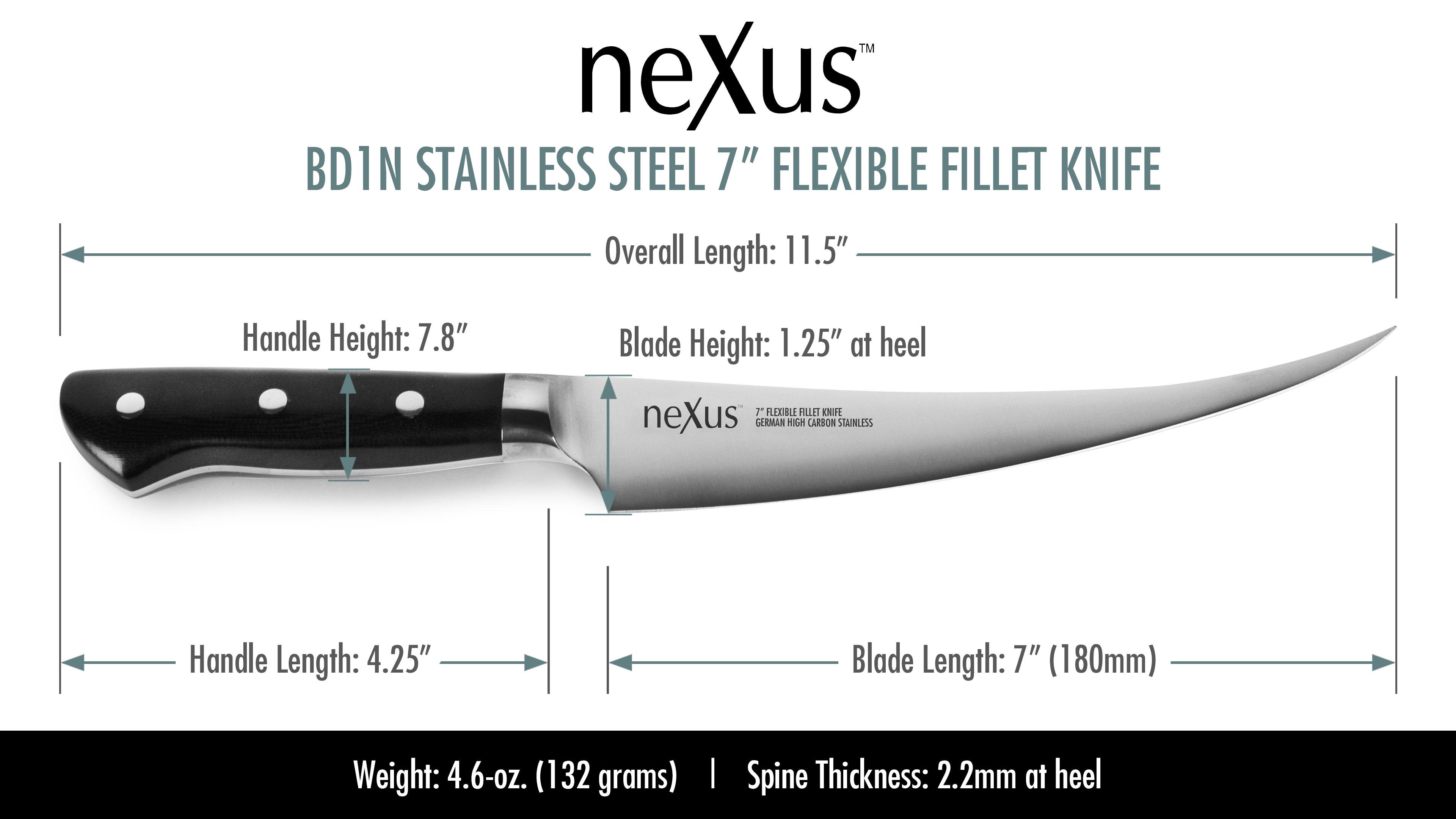 Nexus High Carbon Stainless Steel Flexible Fillet Knife
