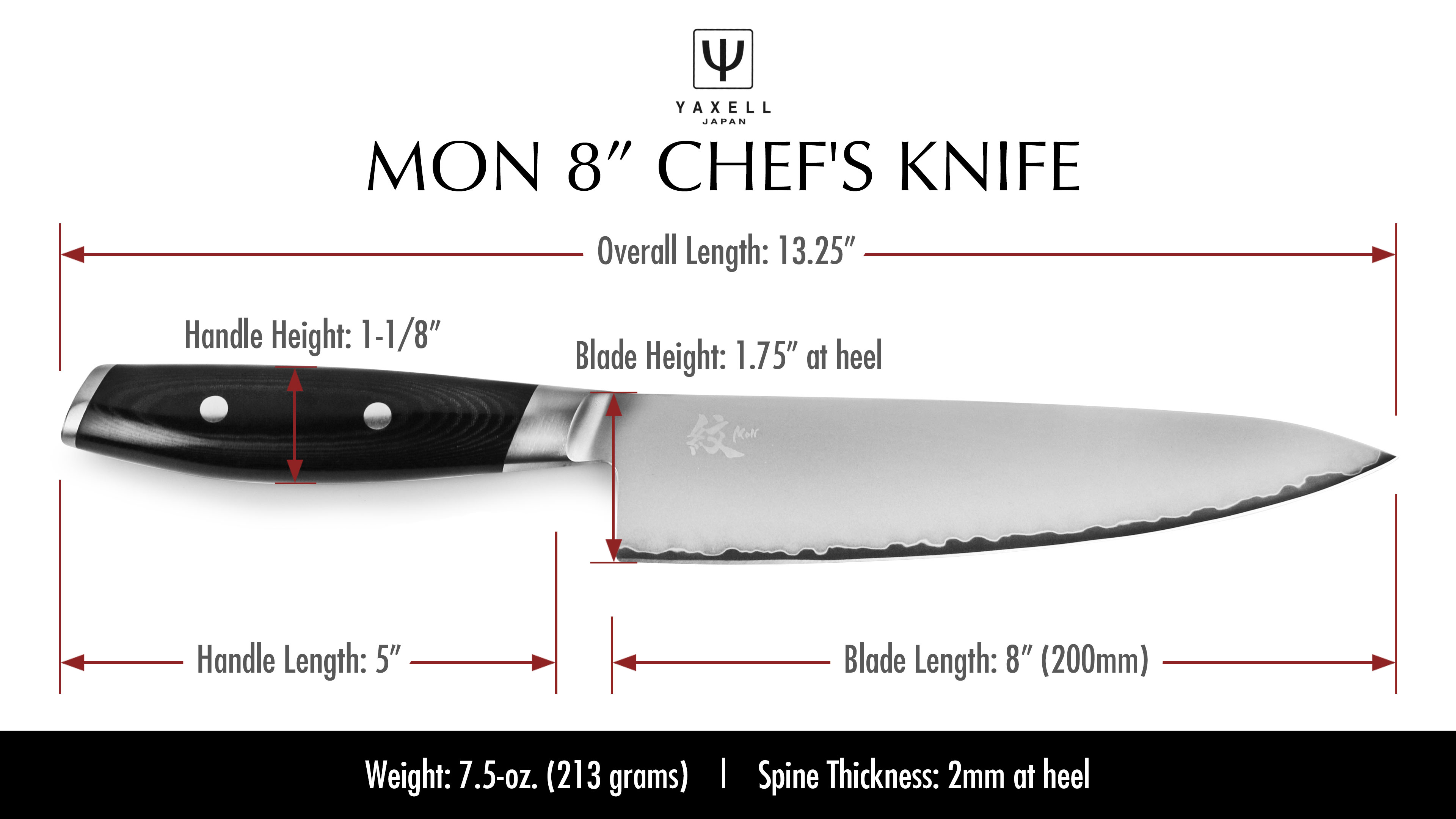 Yaxell Mon Chef S Knife 8 Quot Cutlery And More