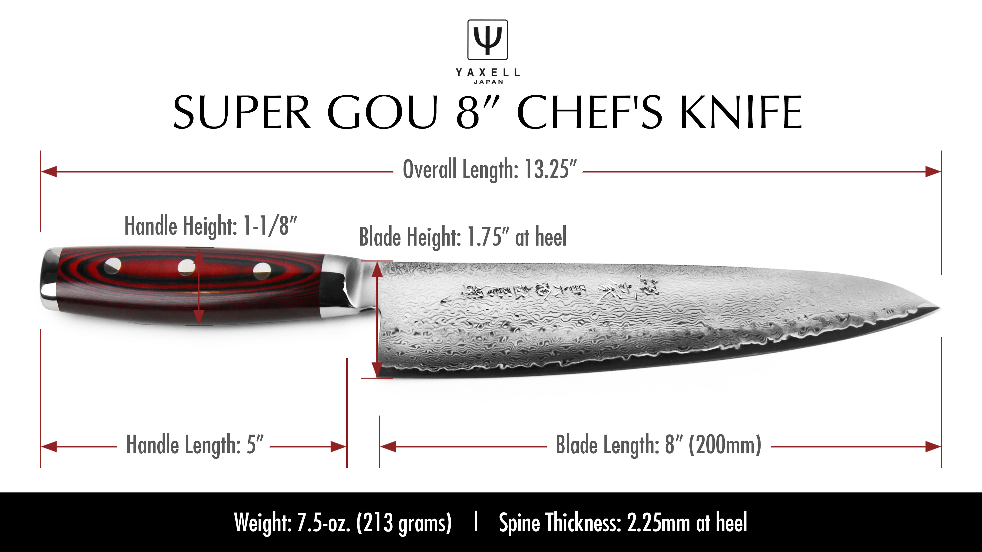 Yaxell Super Gou Chef S Knife 8 Quot Cutlery And More