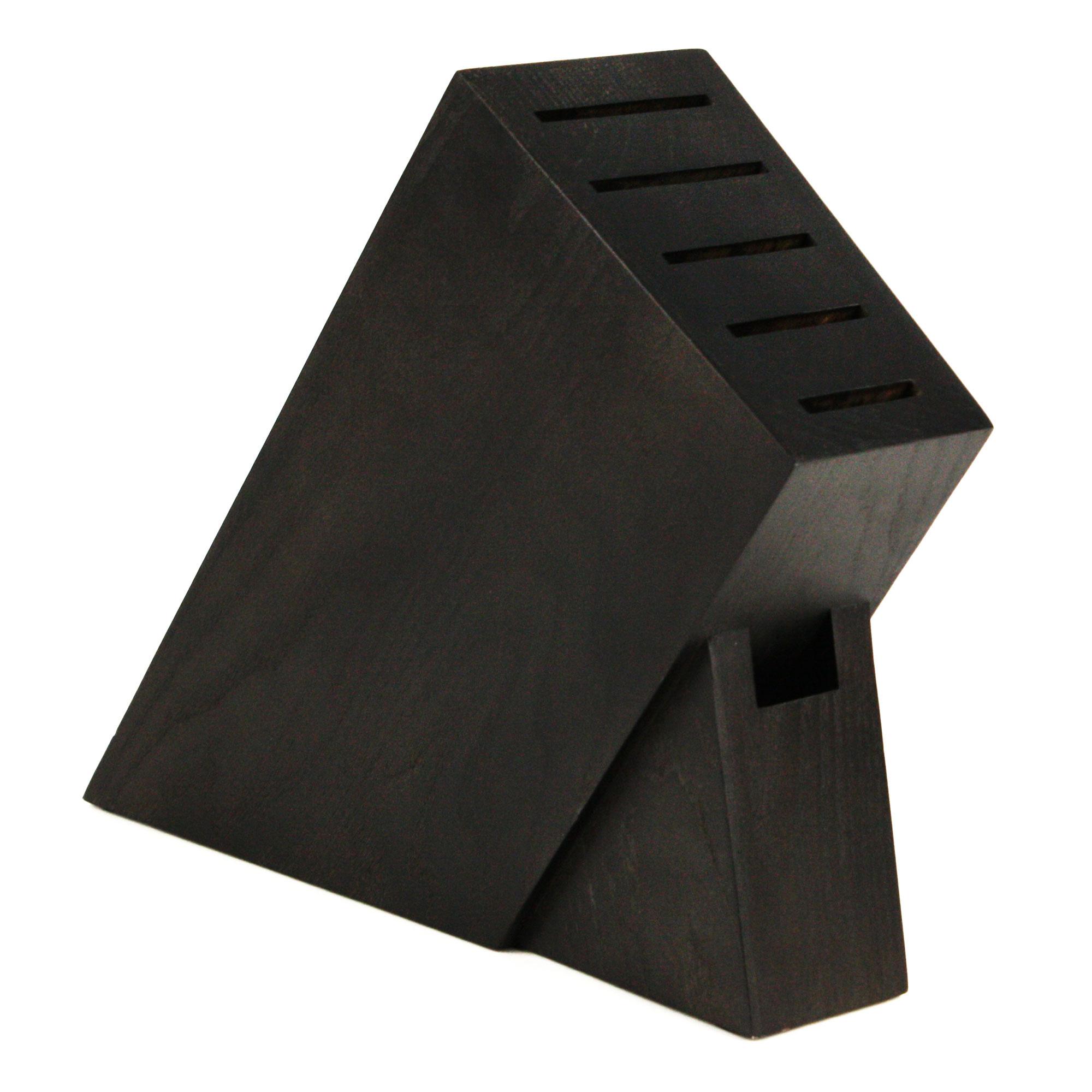 Yaxell Super Gou Slim Knife Block Set 7 Piece Black