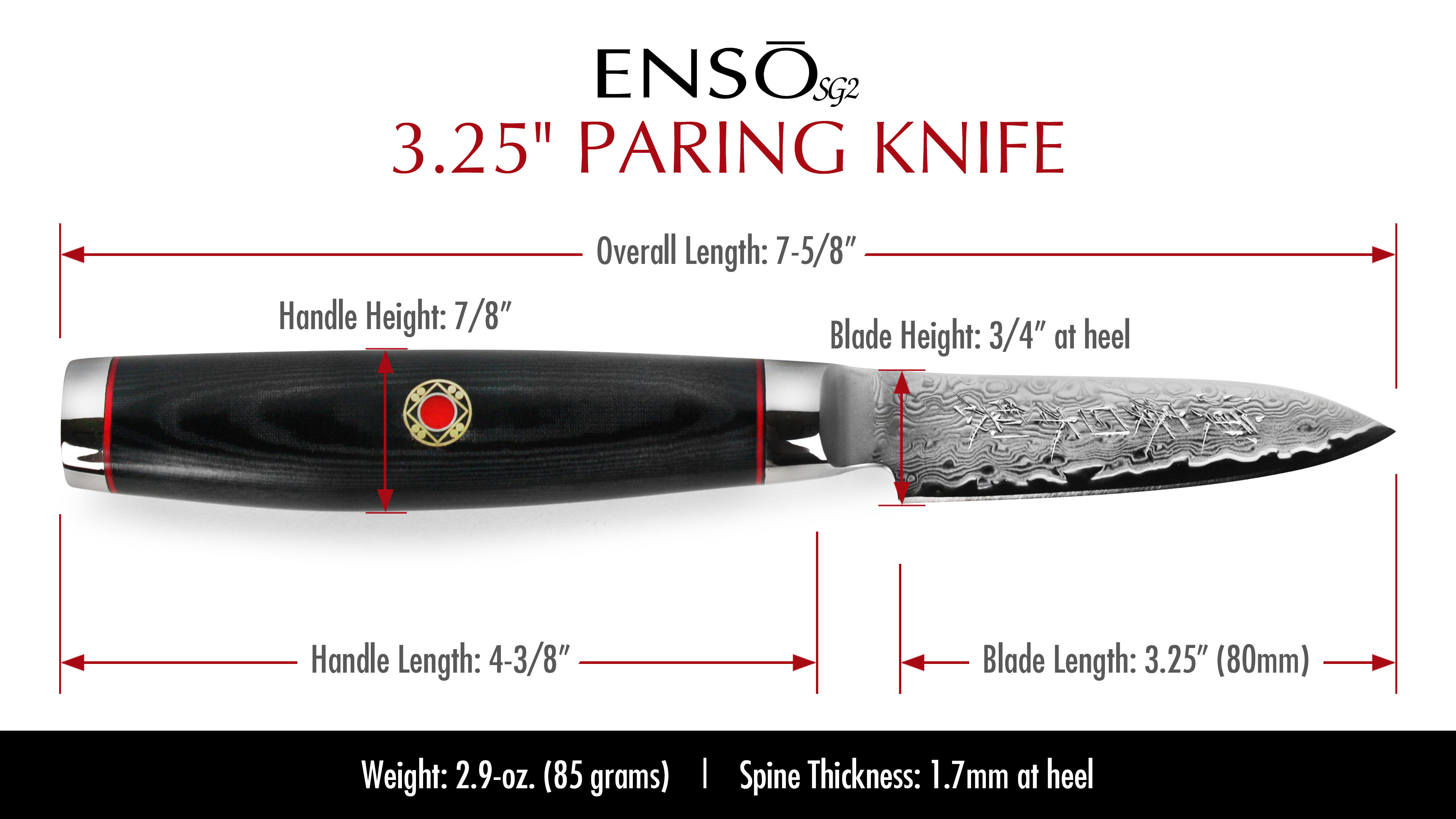 Enso Sg2 Paring Knife 3 25 Quot Cutlery And More