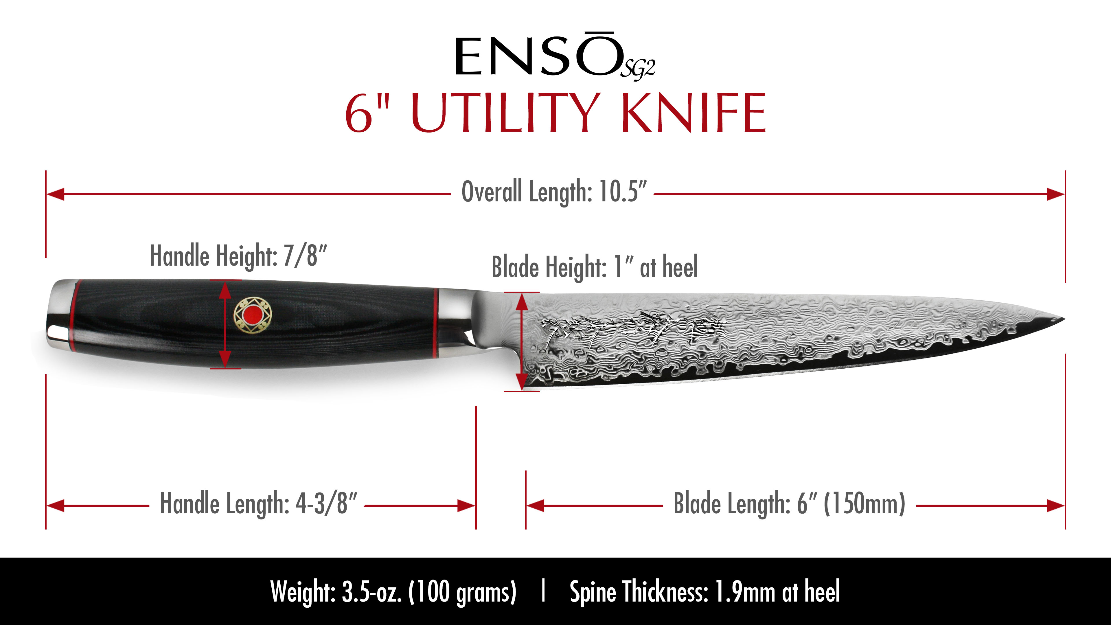 Enso Sg2 Utility Knife 6 Quot Cutlery And More