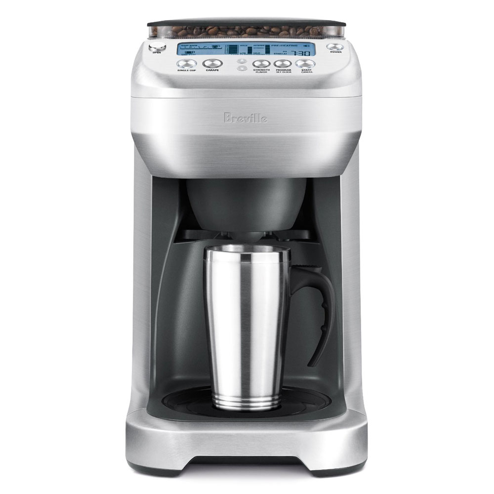 Breville YouBrew Thermal Carafe Coffee Maker with Conical Burr Grinder Cutlery and More