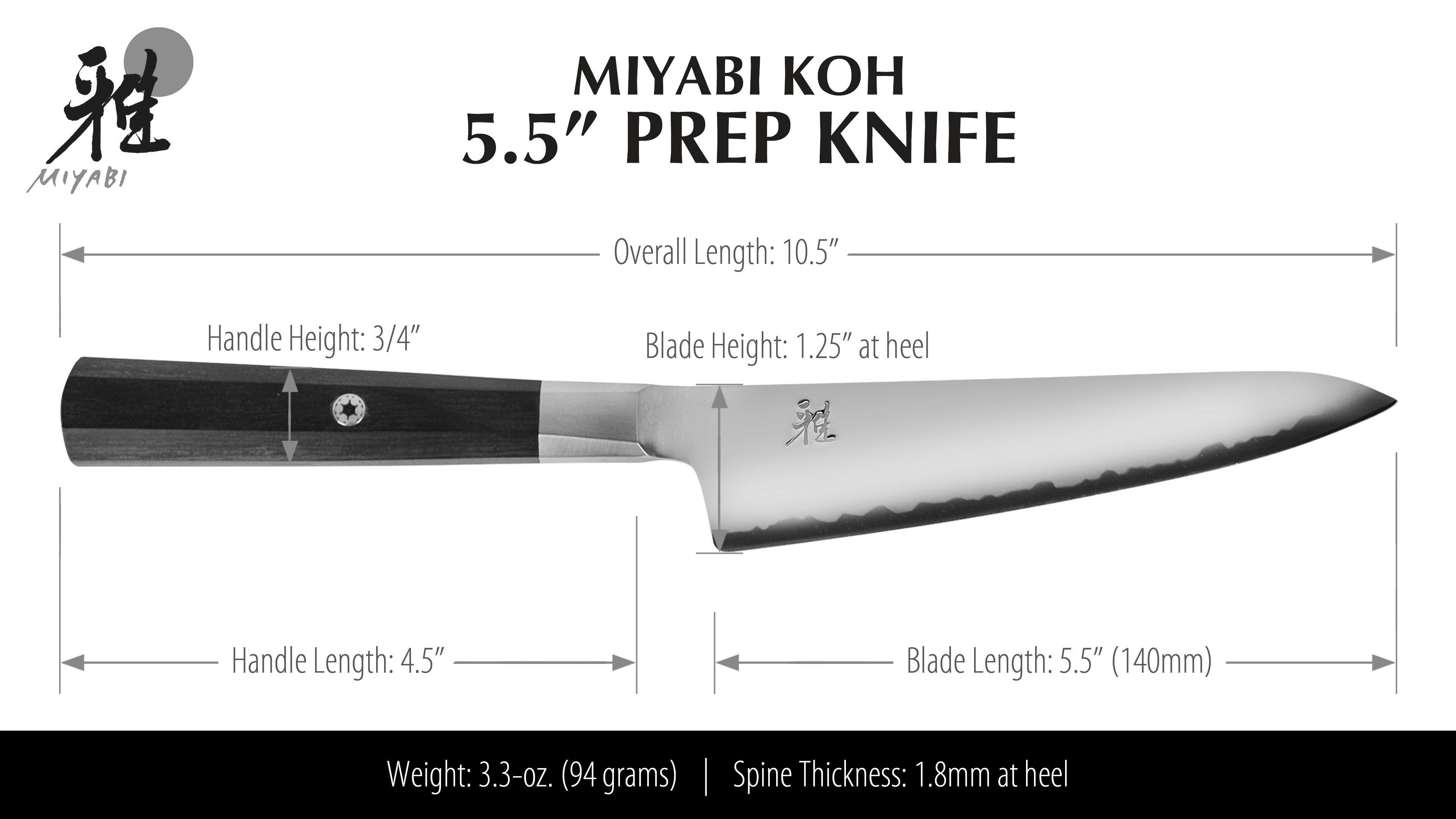 Miyabi Koh Prep Knife 5 5 Quot Cutlery And More