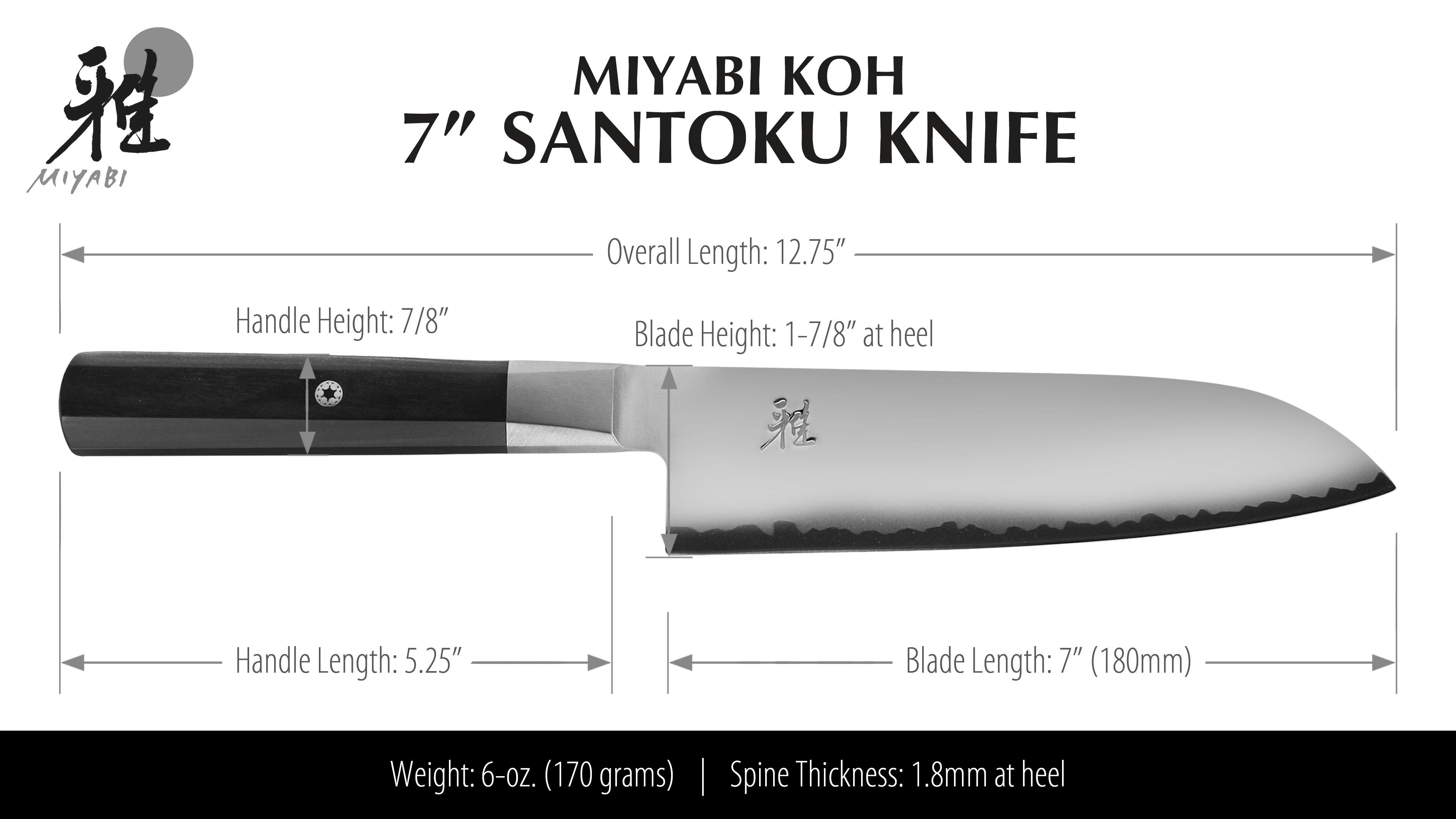 Miyabi Koh Santoku Knife 7 Cutlery And More