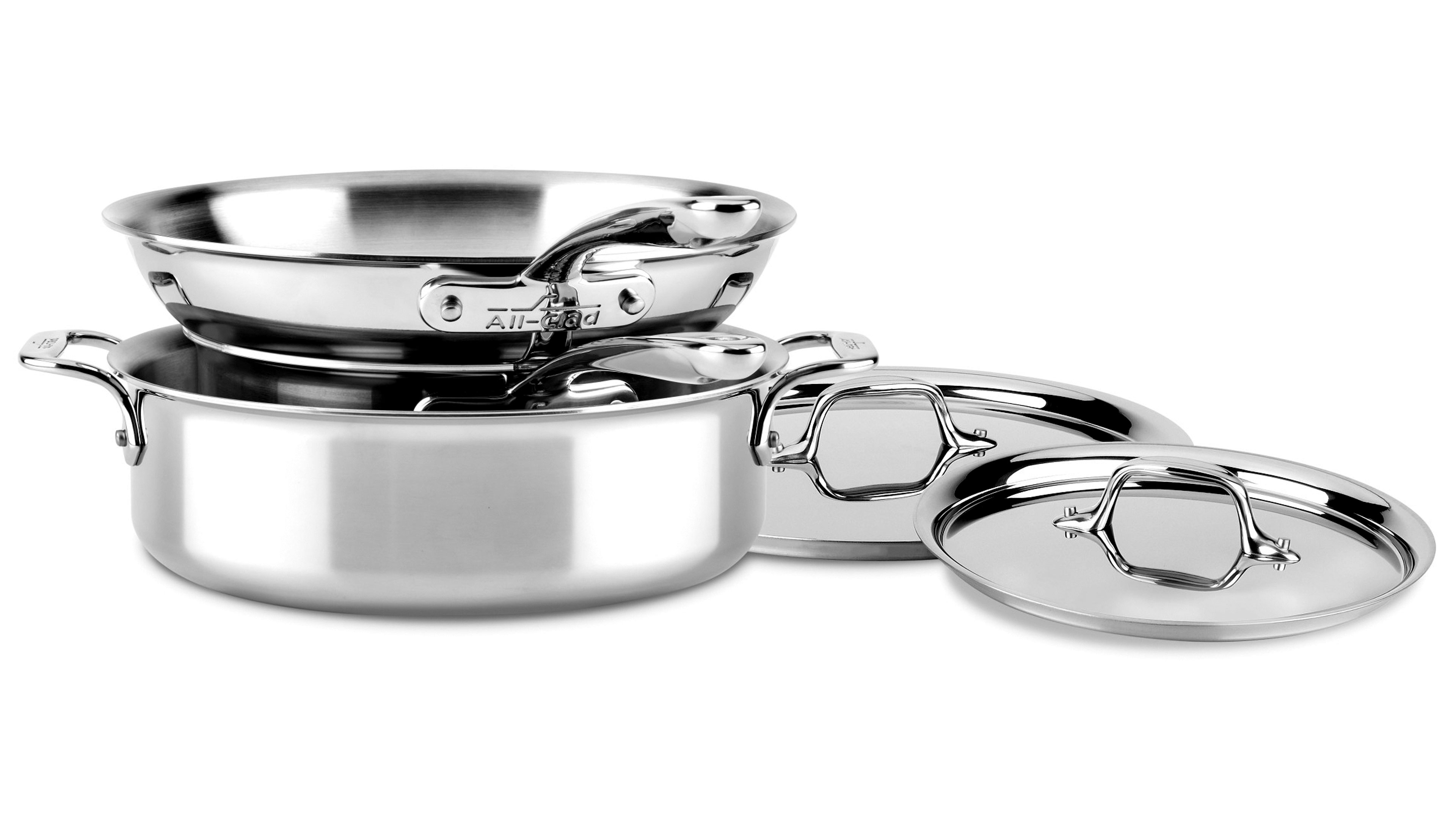 All Clad D3 Stainless Compact Cookware Set 5 Piece