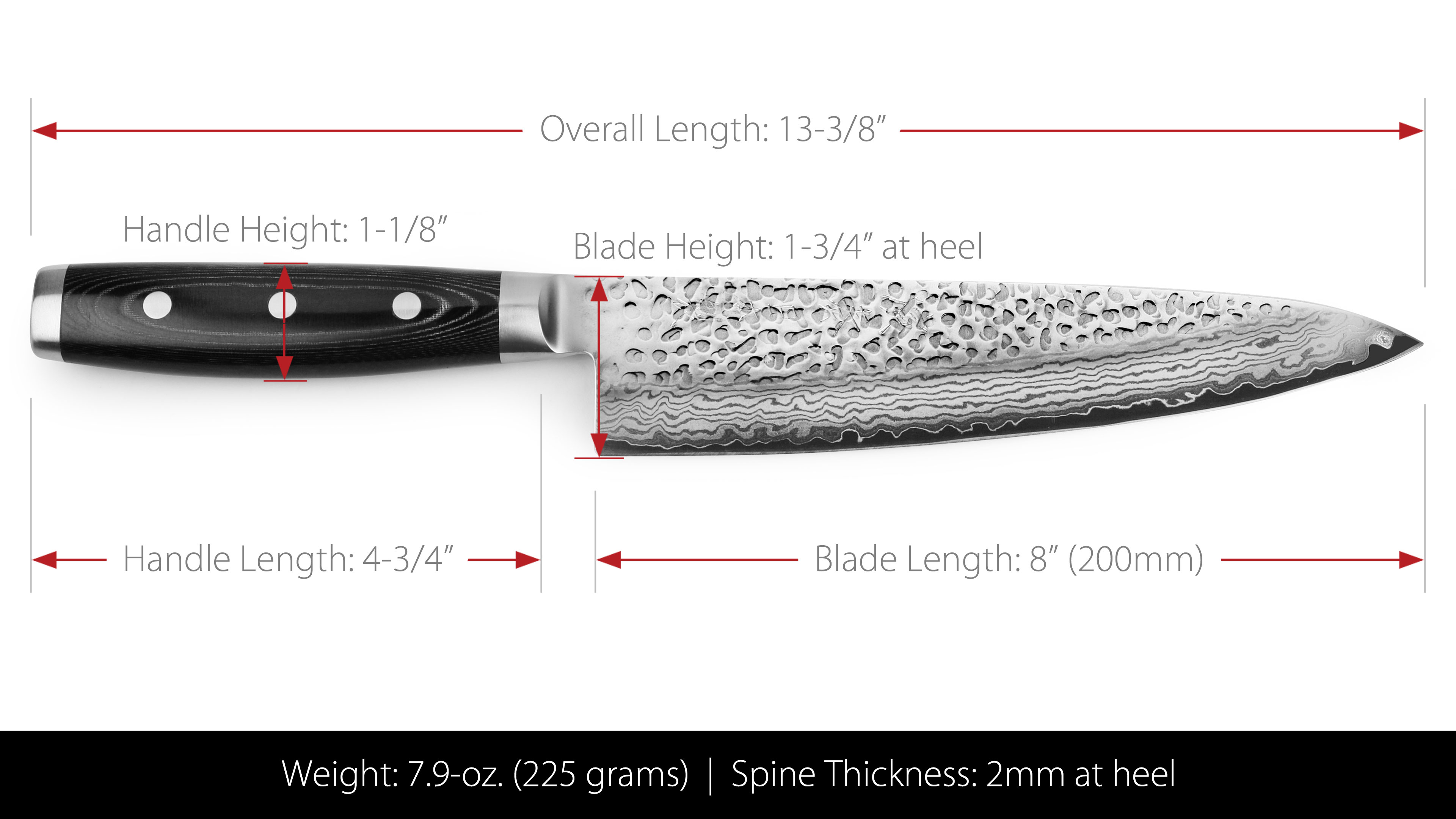 Enso Hd Chef S Knife 8 Inch Japanese Kitchen Knives