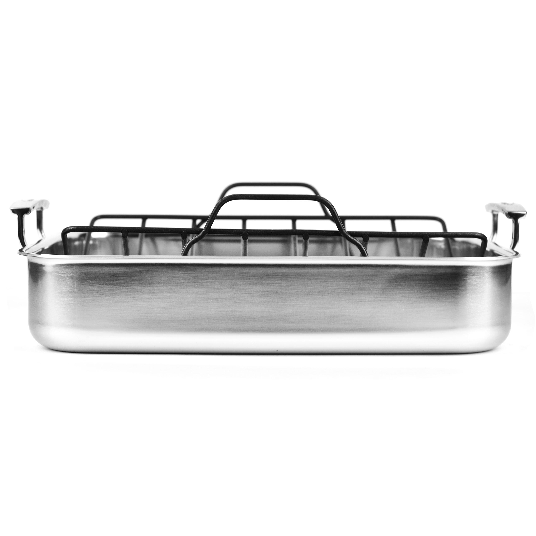 Demeyere 5 Plus Stainless Steel Roasting Pan With Rack 15
