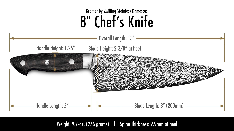 Bob Kramer Chef S Knife Damascus By Zwilling J A Henckels
