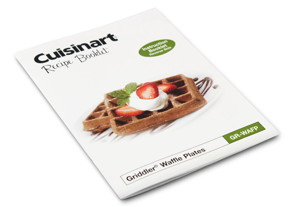 Cuisinart Griddler Waffle Plate Set 2 Piece Cutlery And