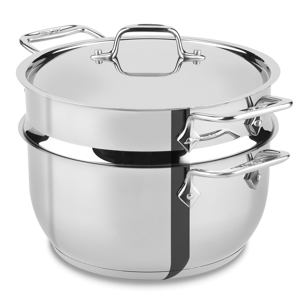 All Clad Stainless Steel Steaming Pot 5 Quart Cutlery
