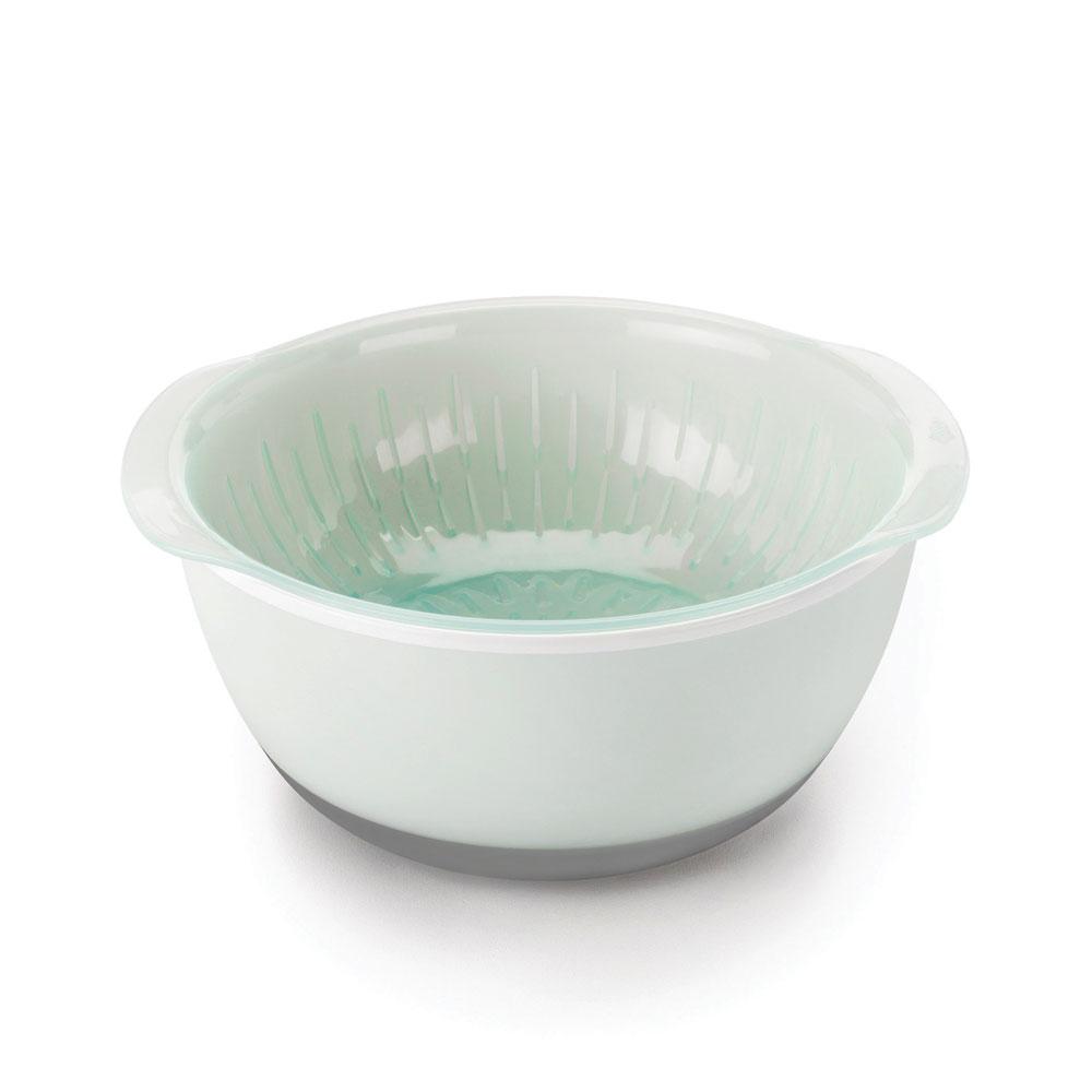 oxo good grips nesting bowls u0026 colanders set 9 piece sea glass
