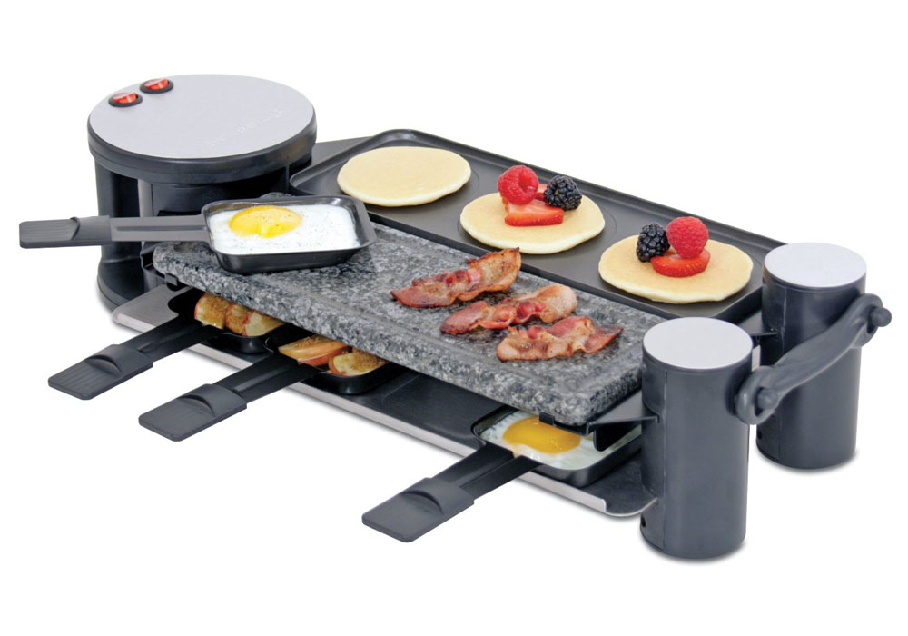 Swissmar Swivel Raclette Grill 8 Person Cutlery And More