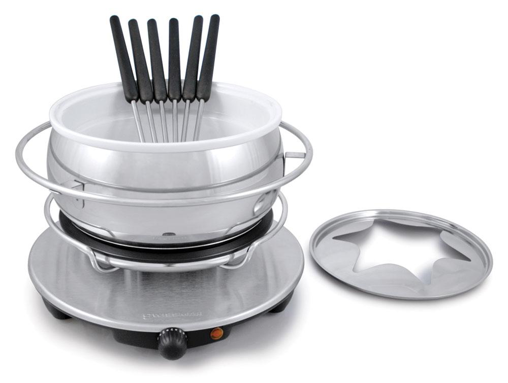 Swissmar Zurich Electric Fondue Set Cutlery And More