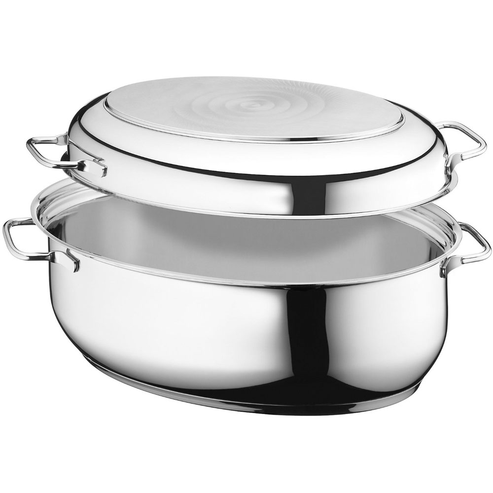 Wmf Stainless Steel Large Multi Function Oval Covered