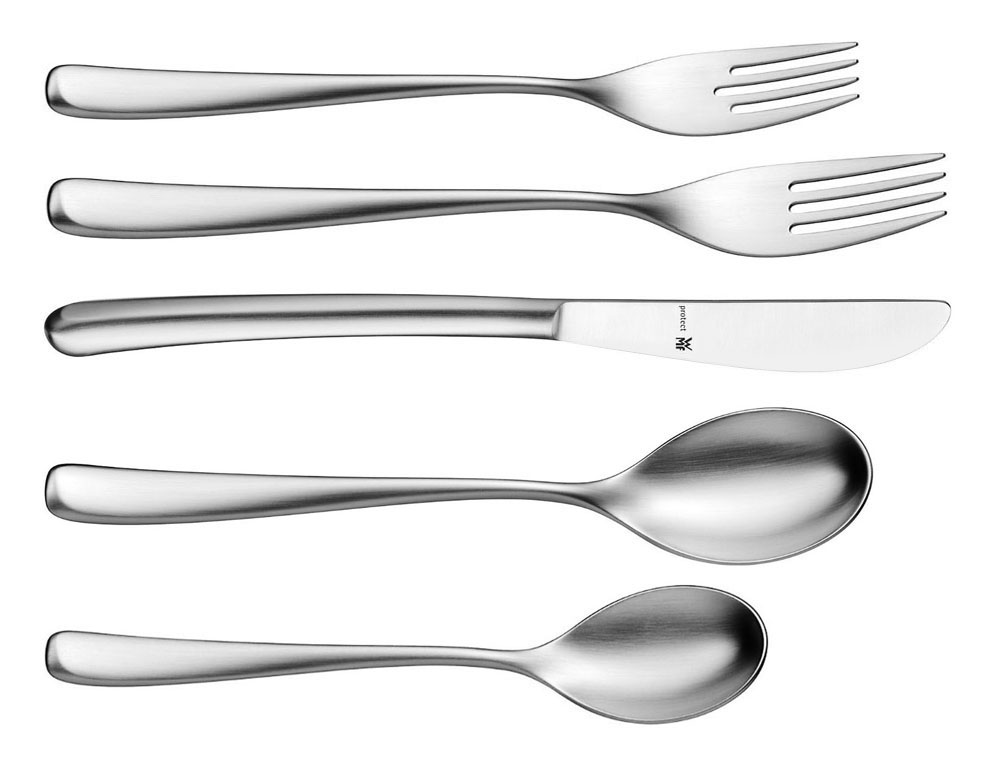 Wmf vision protect stainless steel flatware set 20 piece cutlery and more - Wmf silverware ...