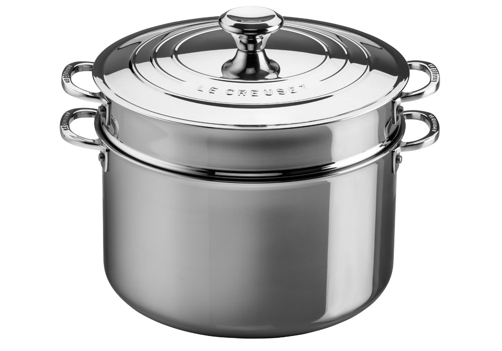 Le Creuset Stainless Steel Stockpot With Pasta Colander